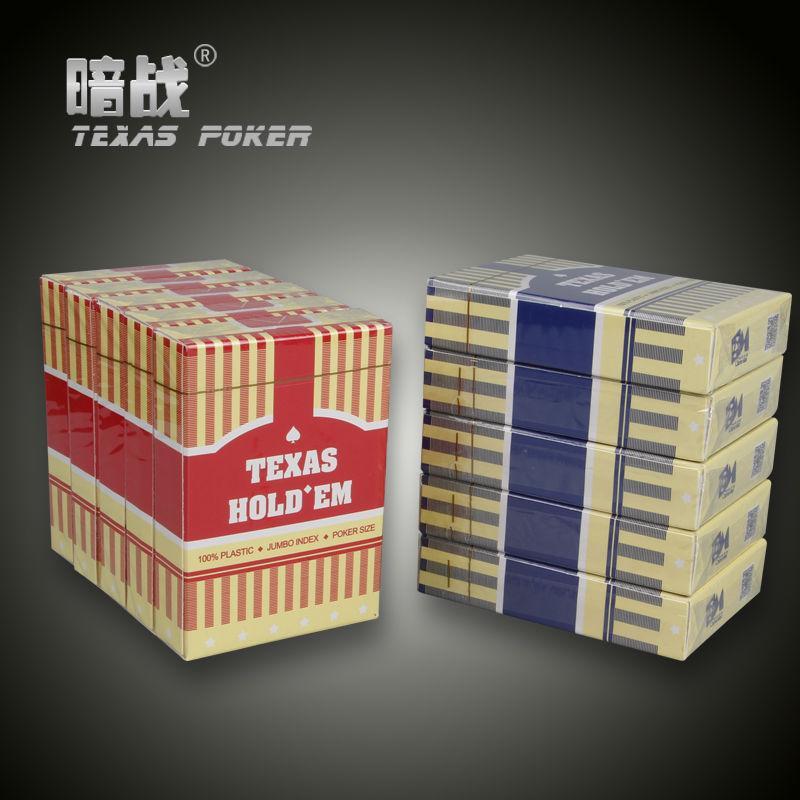 Plastic Spielkartenspiel Texas Holdem Pokerkarten Back Scrub Poker Wasserdicht und langweilig Polnisch Poker Star Zakka Brettspiele