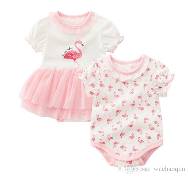 be44b0969 2019 Fashion Cotton Summer New Born Baby Girl Clothes Baby Rompers ...