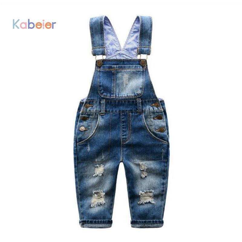 a79dddf5549 Großhandel 2 7 T Marke Kinder Jeans Jungen Mädchen Denim Overall Kind  Hosenträger Jeans Hosen Lässige Mode Kinder Insgesamt Jeans Loch  Einzelhandel ...