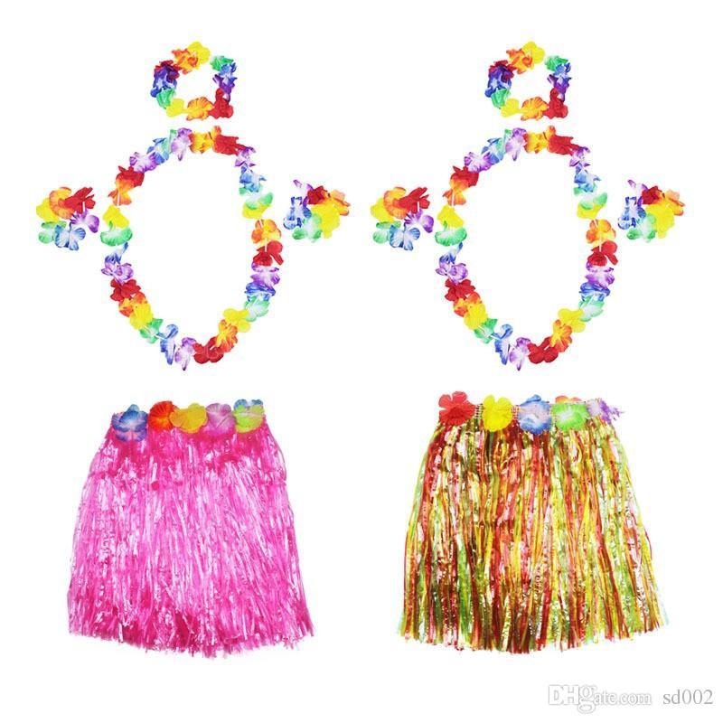 Decoração de casamento Pétala Leis Garland Havaiano Dança Luau Decor Acessório Beach Party Tropical Flor Artificial Colar Venda Quente 2 45zc YY