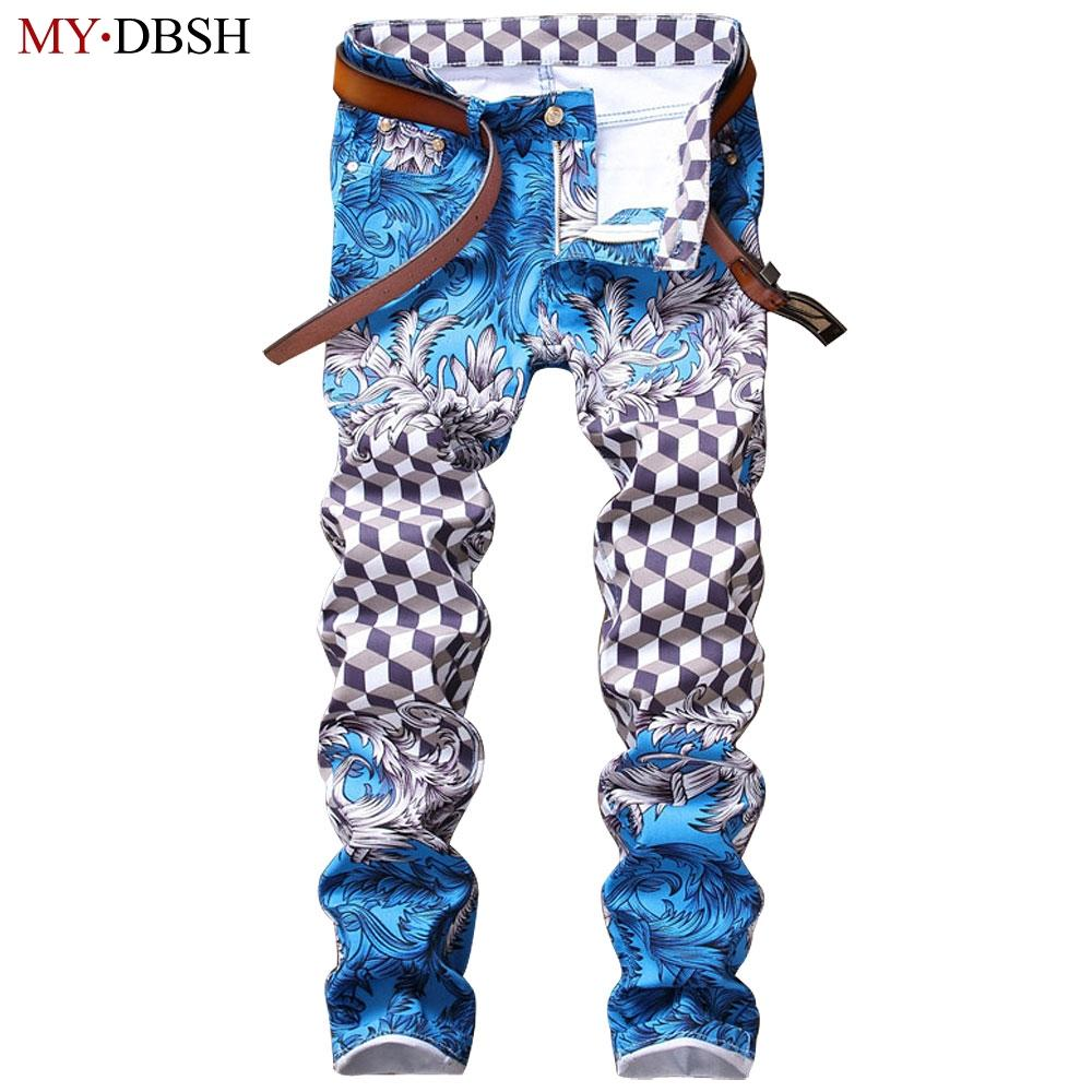 2019 Fashion Slim Jeans Pants For Men Cotton Skinny Printed Jeans American  Style Men Nightclubs Singers European Hip Hop Casual Pants From Sadlyric,  ... 210c7ededd