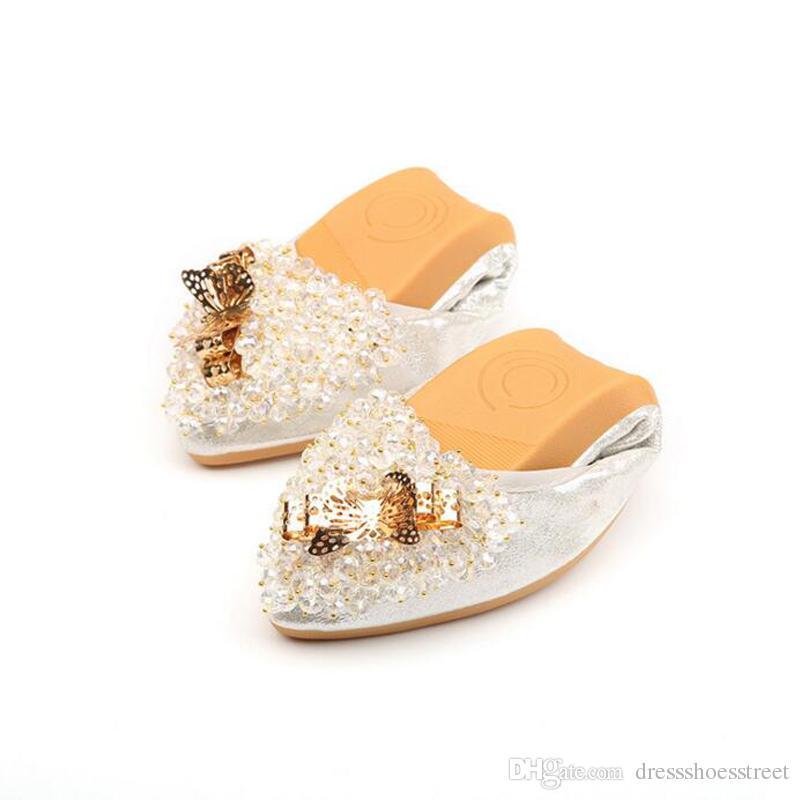 Cheap Bridal Ballet Flats Rhinestones Best Handmade Leather Ballet Flats a68033df0d34