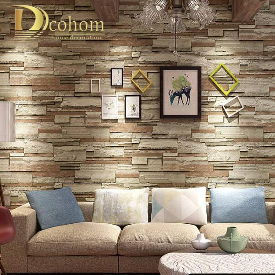 Vintage 3d Brick Wallpaper For Bar Restaurant Shop Rustic Stone Cultural Wall Paper Rolls Background Mural Decals Space Spiderman From