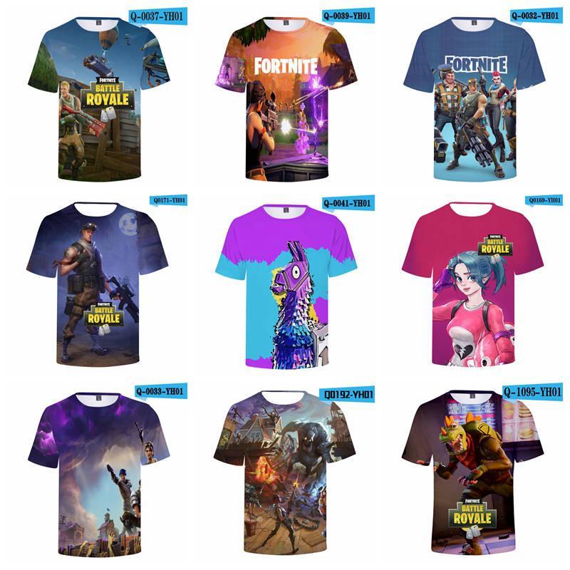 4bf59f9f 2019 40 Designs Fortnite T Shirt Men'S Summer Cool Print 3D Skull Short  Sleeve Round Neck T Shirt Fortnite Big Kids T Shirts From Toy_dh, $4.79 |  DHgate.Com