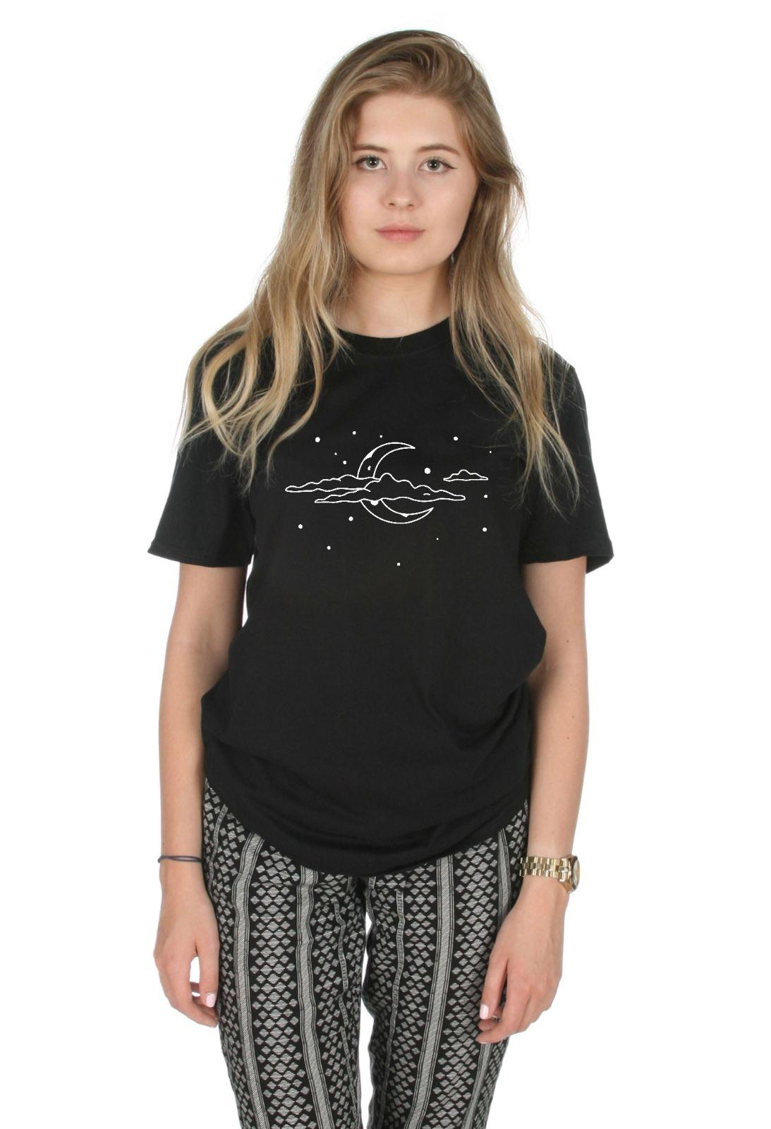 Boho Night Sky T Shirt Top Fashion Tumblr Bohemian Festival Grunge