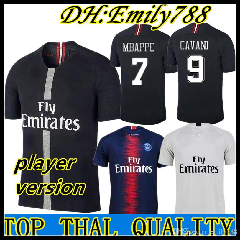 2019 Player Version MBAPPE PSG Home Away Soccer Jerseys AURIER CAVANI DI  MARIA PASTORE Verratti 18 19 Champions League PARIS Football Shirts UK 2019  From ... 2e79e949b