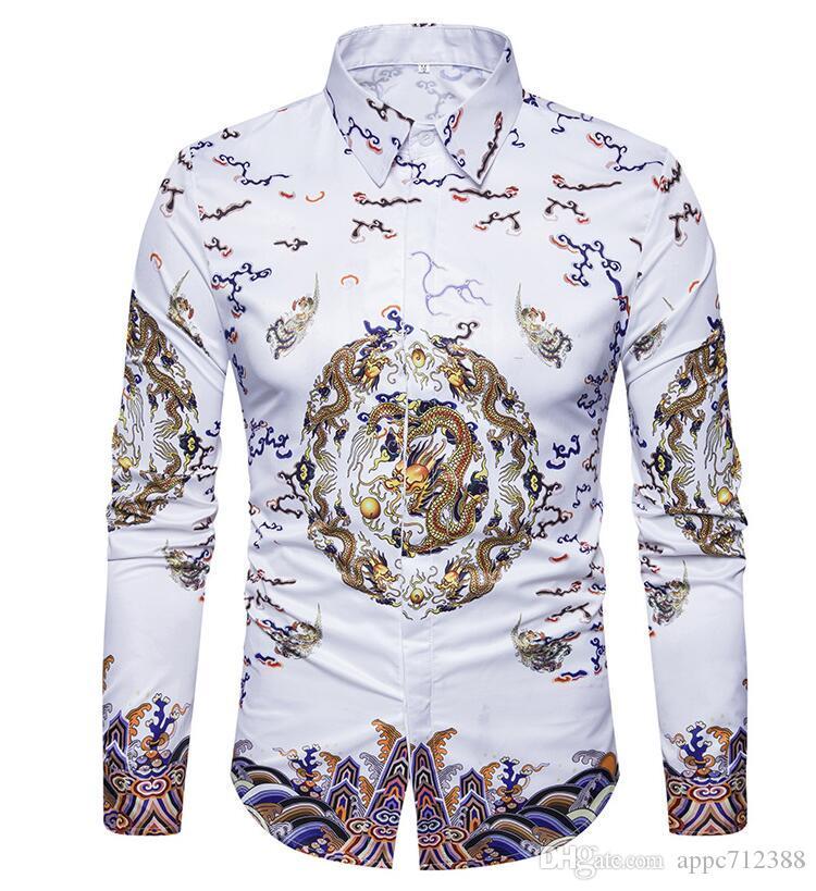 6a9a2663be9 2019 Casual Social Formal Shirt Men Long Sleeve Shirt Business Slim Office Shirt  Male Cotton Mens Dress Shirts White 4XL From Appc712388