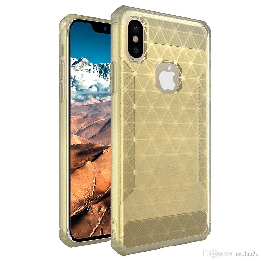 Quatro Canto de Ar Almofada Estilo Shockrpoof Symphony Colorido TPU Voltar Phone Case Capa Para iphone x 7 8 plus 6 s plus se