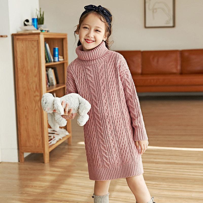 0aa755f44 Compre 2018 Suéteres De Lana Para Niñas De Invierno Jerseys Para Bebés Ropa  De Moda Suéter De Cuello Alto Camisa 5 6 7 8 9 10 11 12 Años De Edad A   75.48 ...