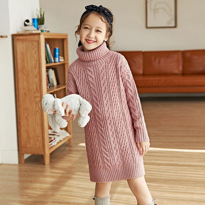 2d4ea0bfac38 2018 Winter Girls Woolen Sweater Pullovers For Baby Girls Fashion ...