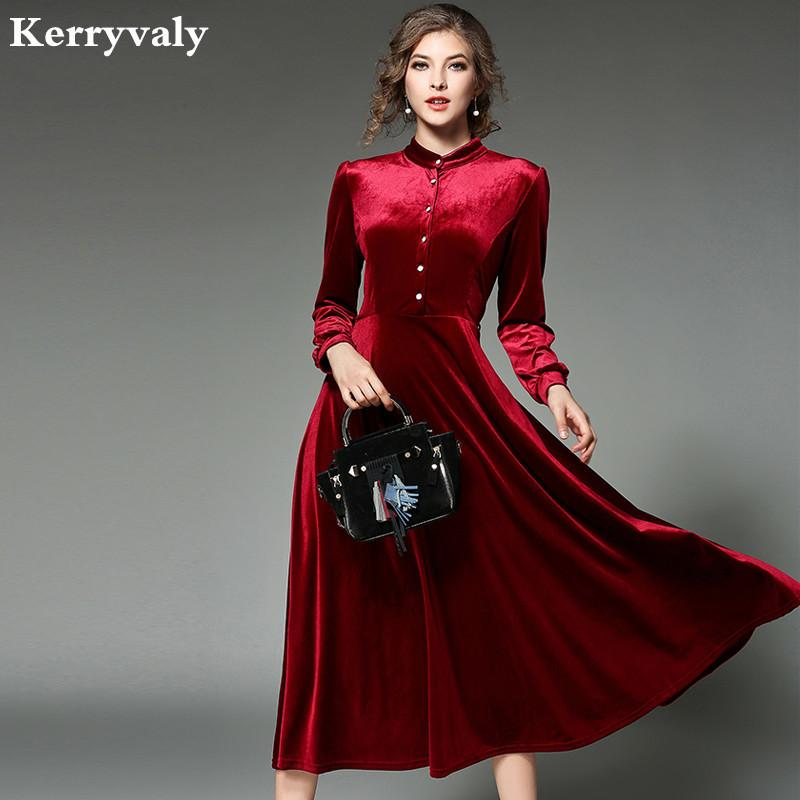2019 New Women Black Velvet Dress Winter Dresses Women 2017 Vestido Longo Long  Sleeved Maxi Long Party Dresses Robe Longue Femme 2470 D18110606 From ... 62d407c7f118