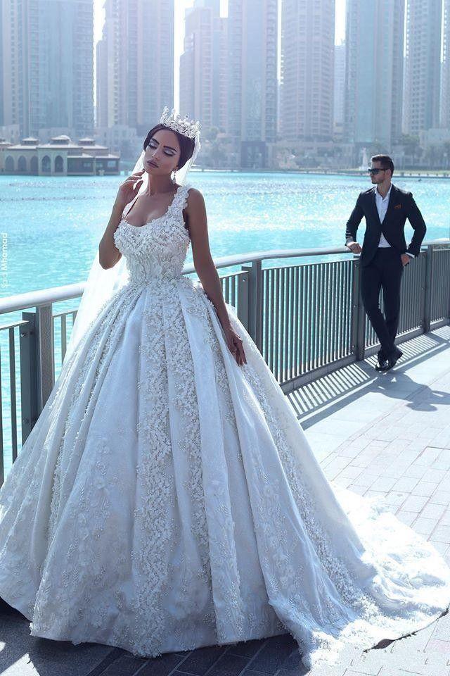 Said Mhamad Luxury 2018 Ball Gown Wedding Dresses Dubai Arabic ...