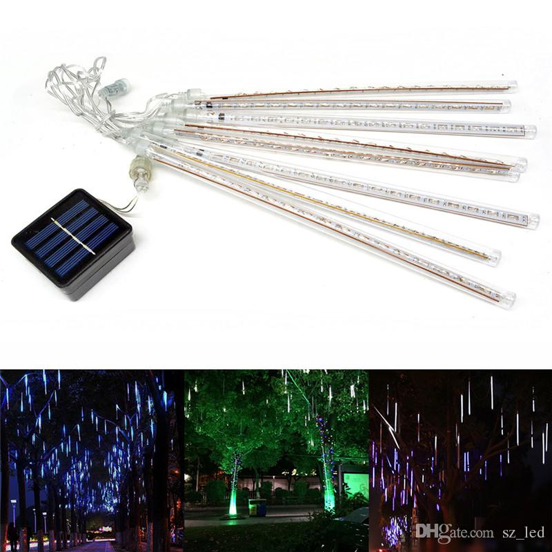 multi color 50cm led string light christmas light meteor shower falling star rain drop icicle snow fall led xmas string light warm white led string lights