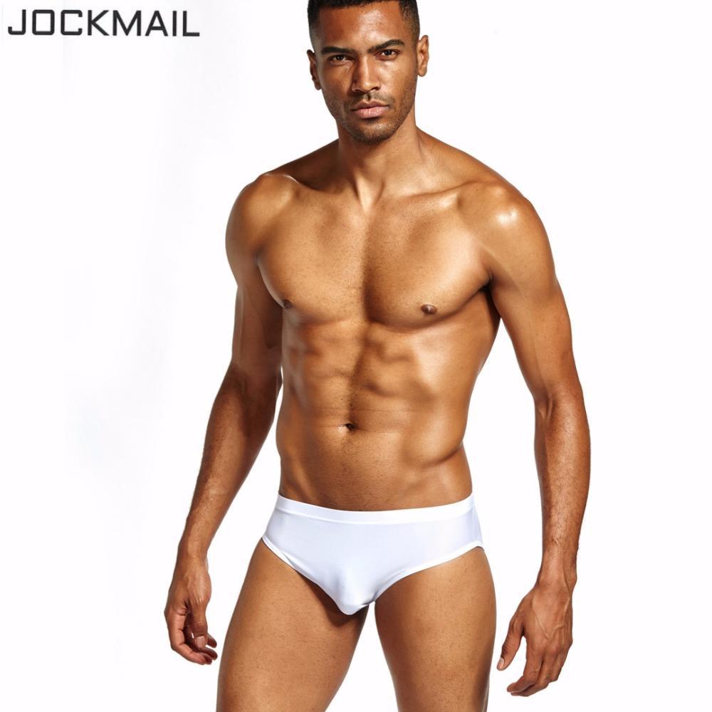 aa3278a3f Acquista JOCKMAIL Marca Sexy Trasparente Uomini Biancheria Intima Mens Slip  Bikini Cueca Gay Nylon Ice Seta Calzoncillos Hombre Slip Biancheria Intima  Gay A ...
