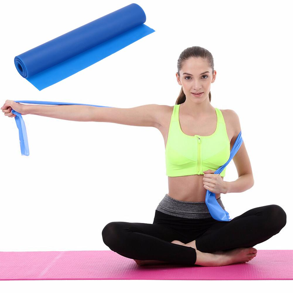 Fitness Equipments 2m Yoga Pilates Exercise Rubber Stretch Band Arm Leg Back Fitness Gym Training