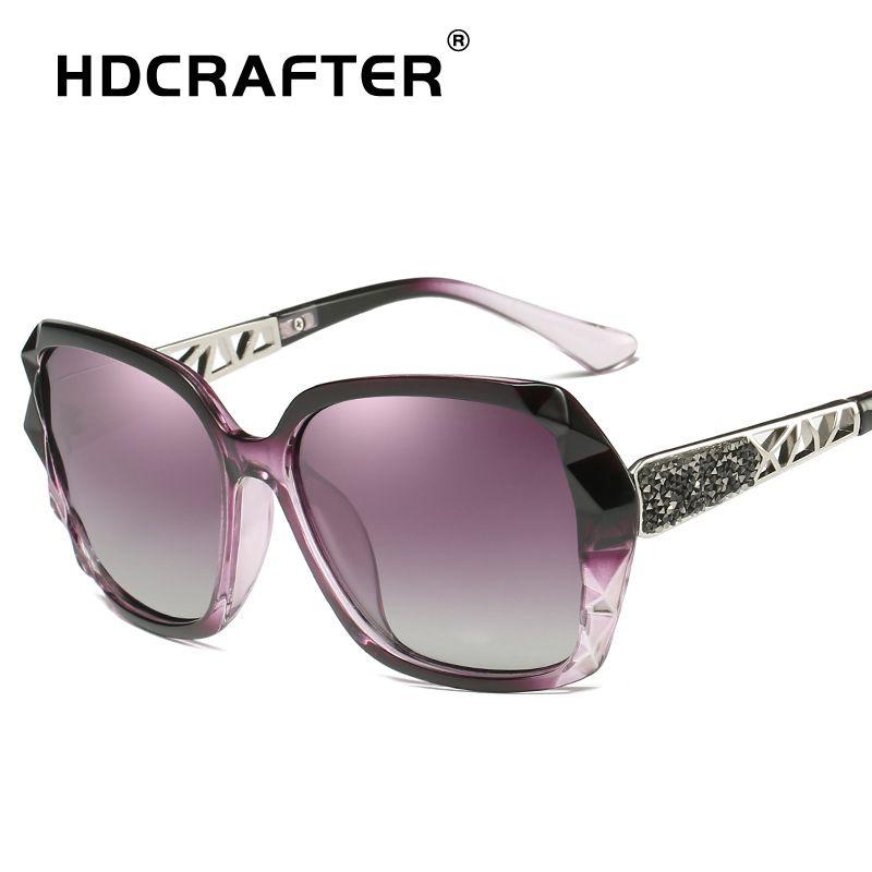 faa4f45942a HDCRAFTER Luxury Sunglasses Women Polarized Elegant Rhinestone Ladies  Designer Sun Glasses Eyewear Accessories Oculos De Sol Polarised Sunglasses  Baby ...
