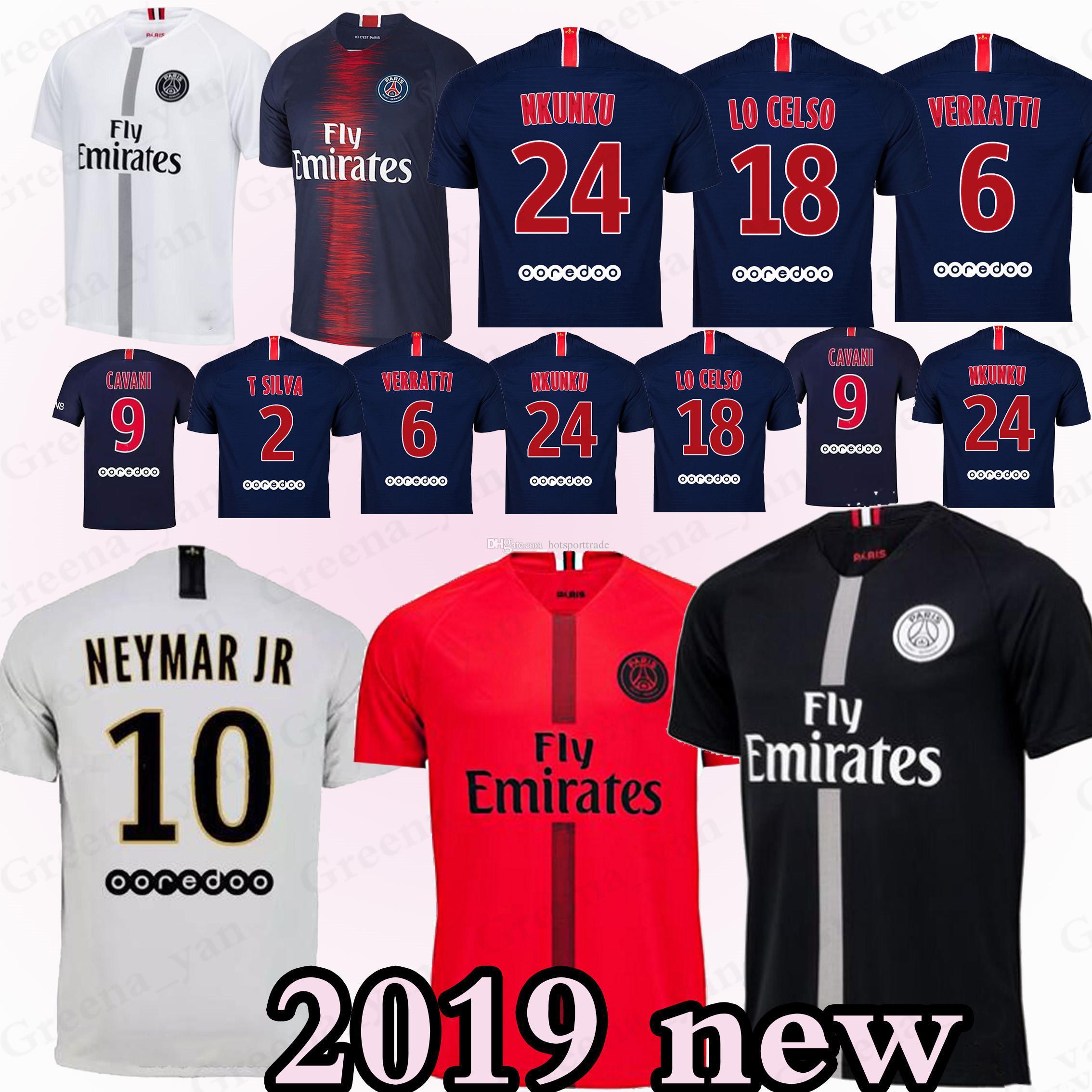 Camiseta De Fútbol De Paris Saint Germain PSG 7 Mbappe 6 Verratti Cavani  DANI ALVES NEYMA JR 10 Camisetas De Fútbol Hombre Kits Para Niños Por  Hotsporttrade ... de126b1f08b84