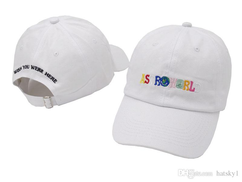 2018 New 100% Cotton ASTROWORLD Baseball Caps Travis Scott Unisex Astroworld  Dad Hat Cap High Quality Embroidery Man Women Beanies Kangol From Hatsky1 1ef861445d3e