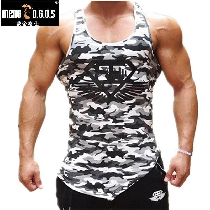 2bb0fec02f 2019 Fitness Men Tank Tops Army Camo Camouflage Mens Bodybuilding Stringers  Tank Tops Singlet Brand Clothing Sleeveless Shirt From Huiqi02, $41.14 |  DHgate.