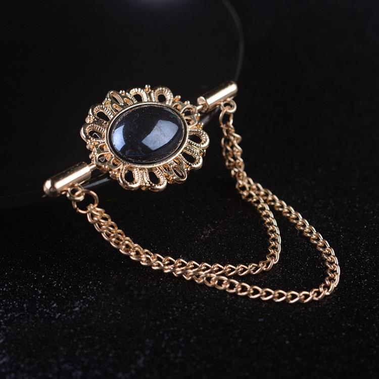 2017 Time-limited Real Zinc Alloy Men Broche Brooches For Men's Metal Brooch French Shirt Collar Pin Small Clip Medal