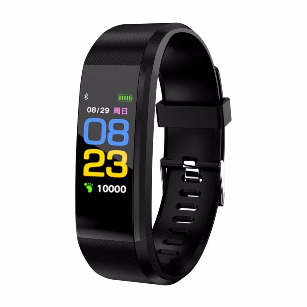 Plus Ios Phone Tracker Heart Id115 Monitor Pedometer Rate Smart Android Wristbands For Band Fitness ukiPXZ