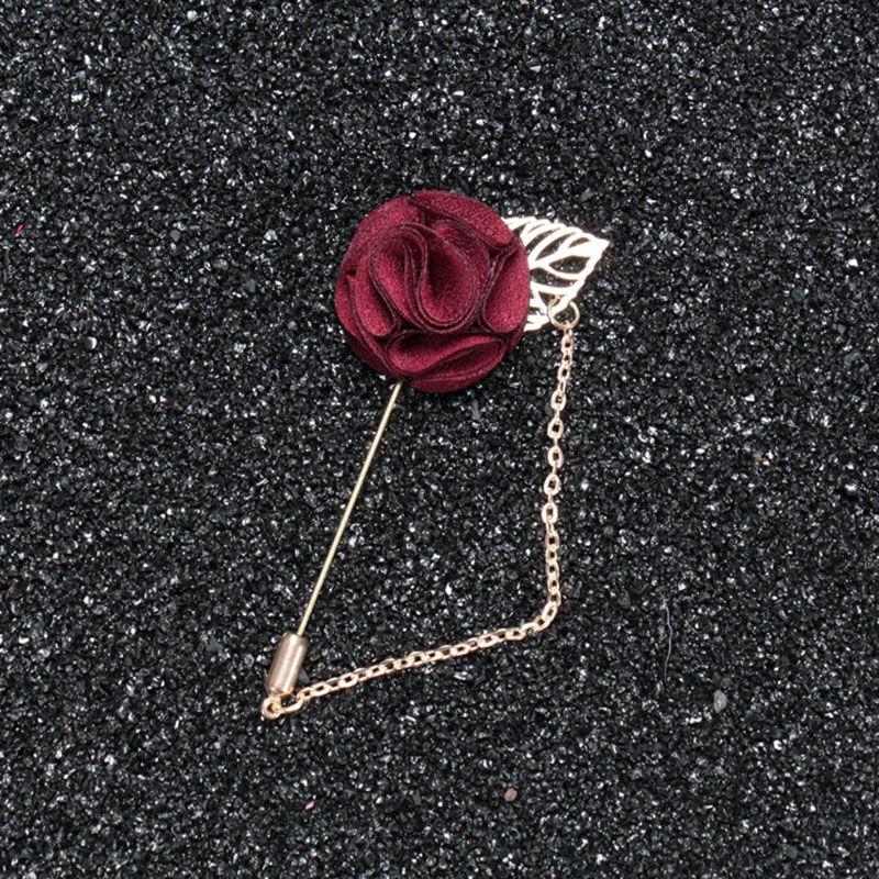 Handmade High quality fashion red flower chain lapel pin men brooches/wedding decoration/corsage/brosche/broszka/wholesale