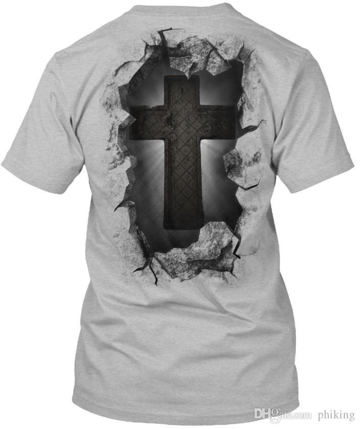0a4d83e3a7 Compre Cristão Avanço Padrão Unisex T Shirt T Camisa Dos Homens Da Equipe  Da Família Do Menino Personalizado De Manga Curta Dos Namorados Plus Size  Grupo ...