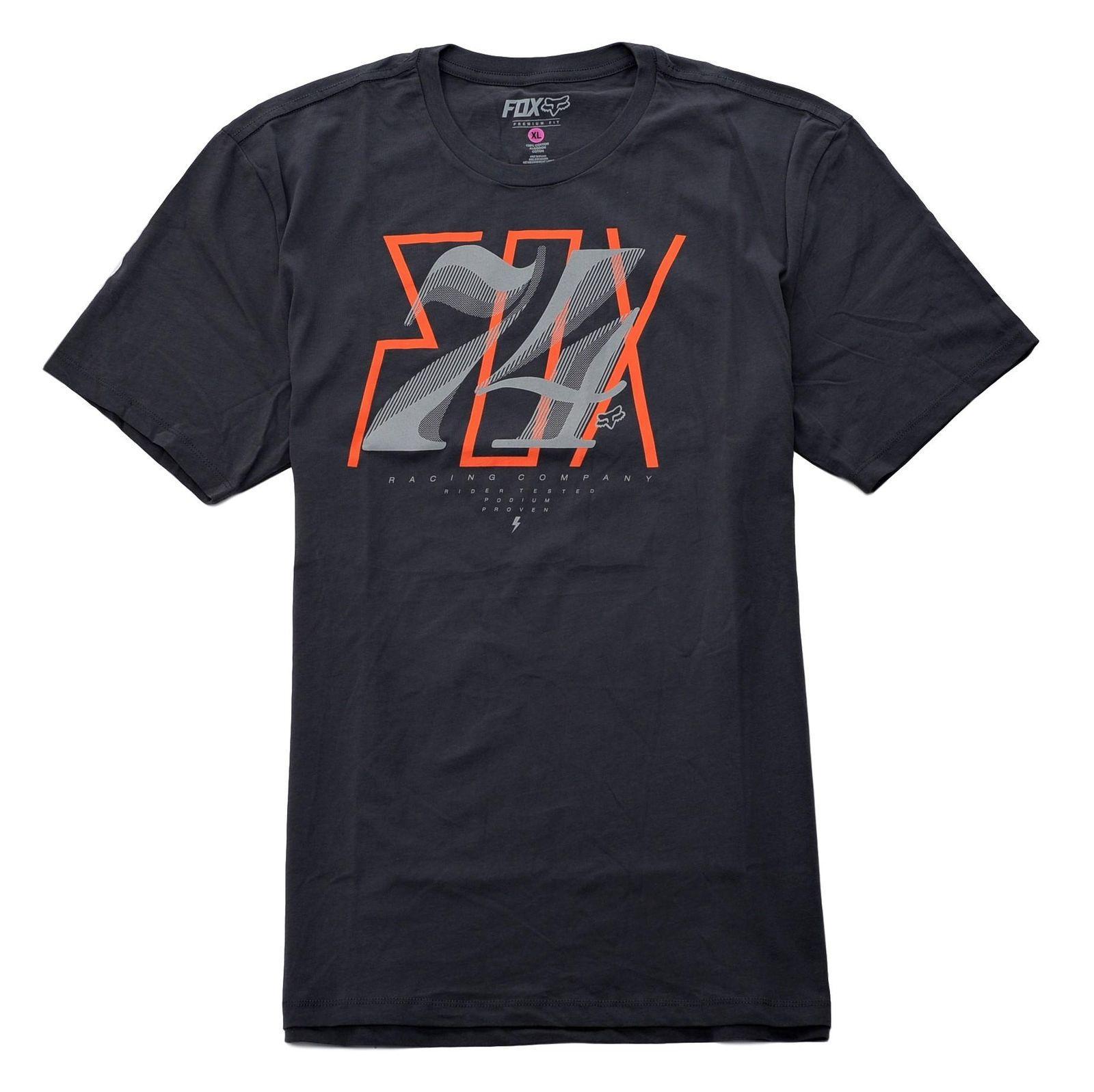 600069a780 Fox Racing Men's Short Sleeve Tee Charcoal X-Large 2017 New Leisure Fashion  t-Shirt men cotton short sleeves