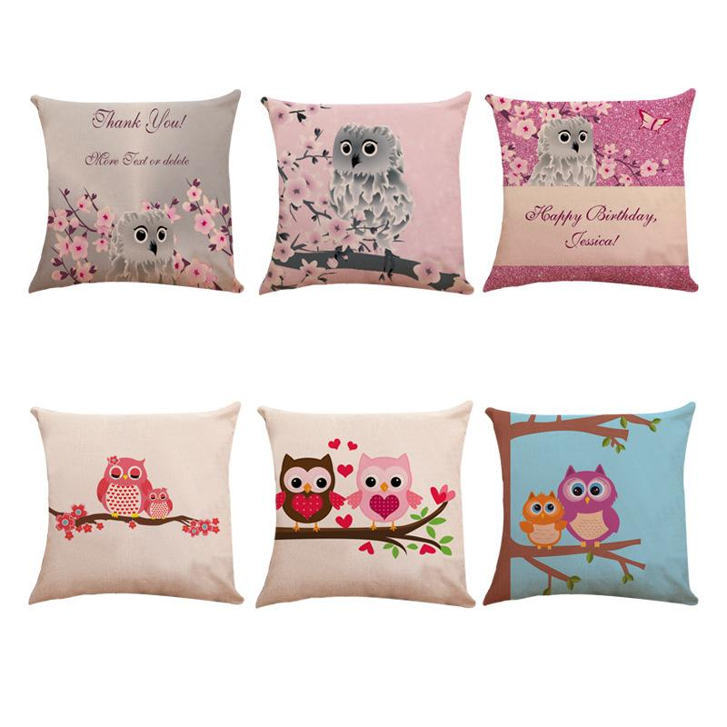 Manufacturers Sell Direct Selling Cute Owls Pillow Set Creative