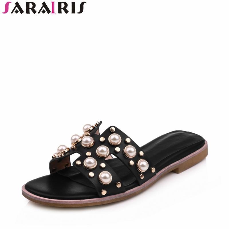 b84beba01 SARAIRIS Summer Sweet Concise Slippers Low Wedges Slides Comfortable ...