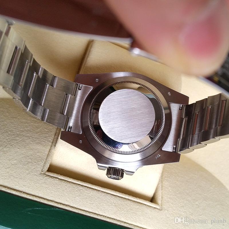 Diseñador de lujo Factory V7 Versión Hombres Reloj de zafiro automático Calendario 2836 Relojes de buceo impermeables Hombres Luminoso Relojes deportivos