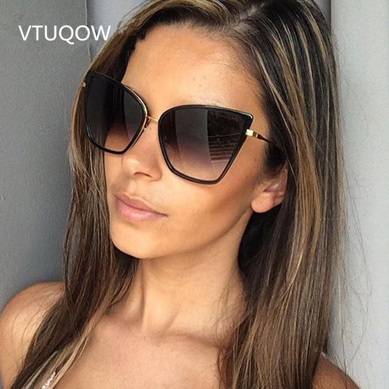 3bb40875429 2019 New Arrival Cat Eye Sunglasses Women Brand Designer Vintage Sun Glasses  For Women Female Lady Sunglass Oculos De Sol UV400 Sunglasses Cheap  Sunglasses ...