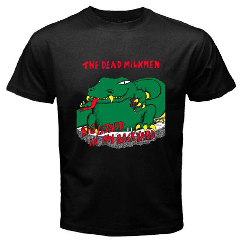 Lizard In My Backyard the dead milkmen big lizard in my backyard men's black t shirt size