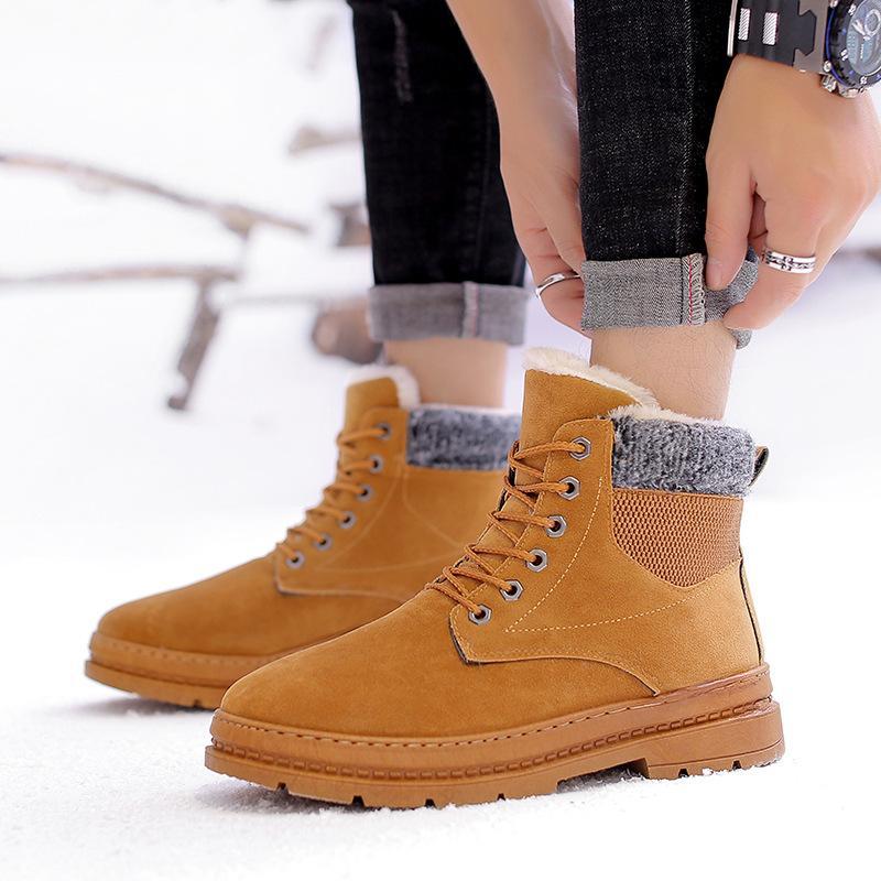 923988d9d Compre Jookrrix Botas Mujer Zapatos Casuales De Los Hombres De La Marca De Moda  Botas De Nieve Caliente Masculina Invierno Uomo Calzado Cruzado Atado ...