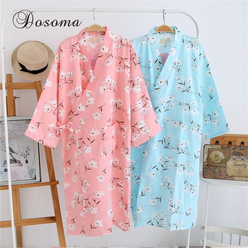 bde04b223a 2019 Traditional Japanese Kimono Pyjamas Suits Yukata Pajamas Sets Cotton  Loose Long Robes Print Bathrobe Home Leisure Wear Nightgown From Dalivid