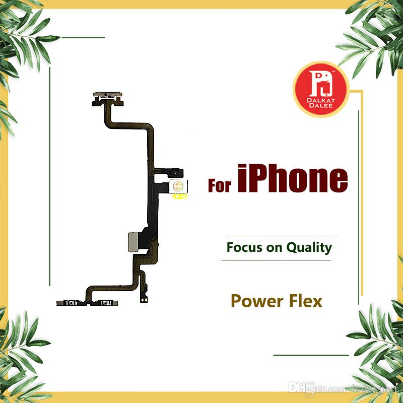 Power Button On Off Flex For iPhone 5 5S 5C SE 6g 6S 6s Plus 7 PLUS 8 X Volume Mute Switch with Metal Lock