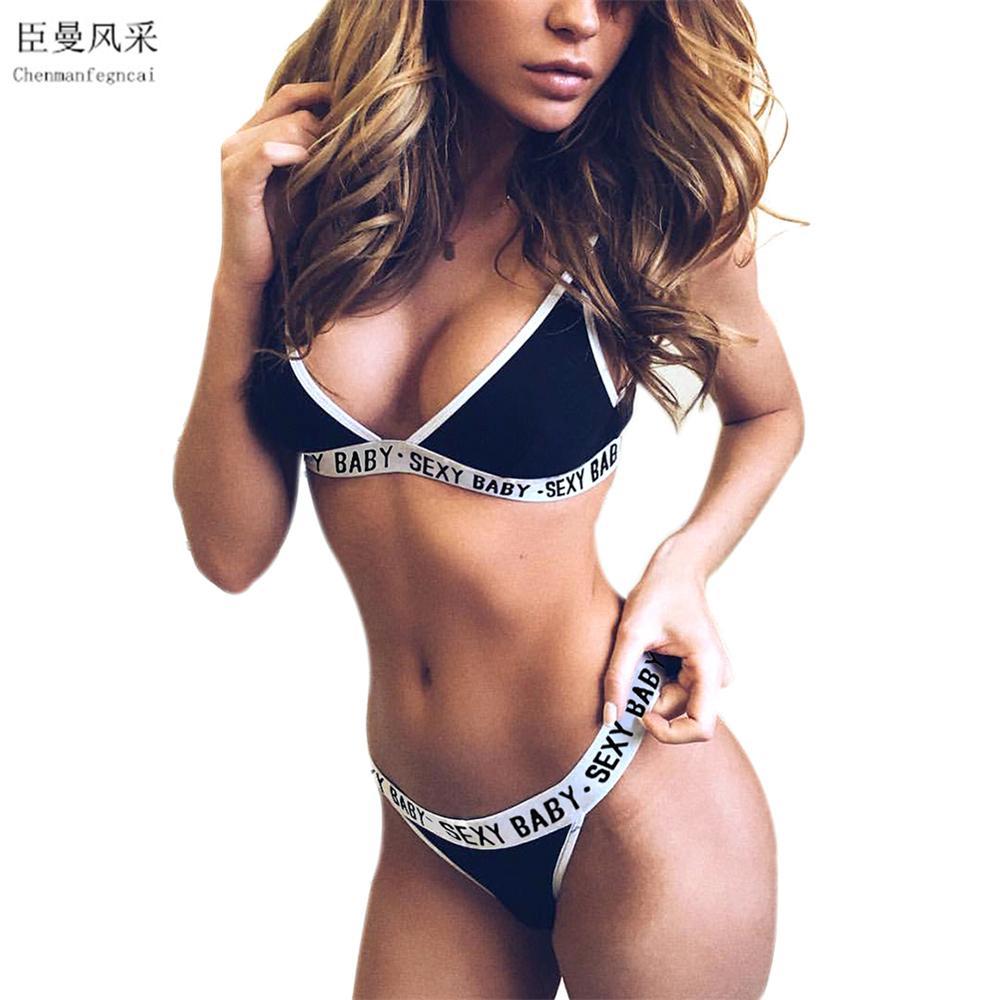965ec6adf New Sexy Women Bra Set Crop Top Lingerie Bras + Brief Sets Fashion Women  Clothing Intimates Underwear Fitness Workout Seamless