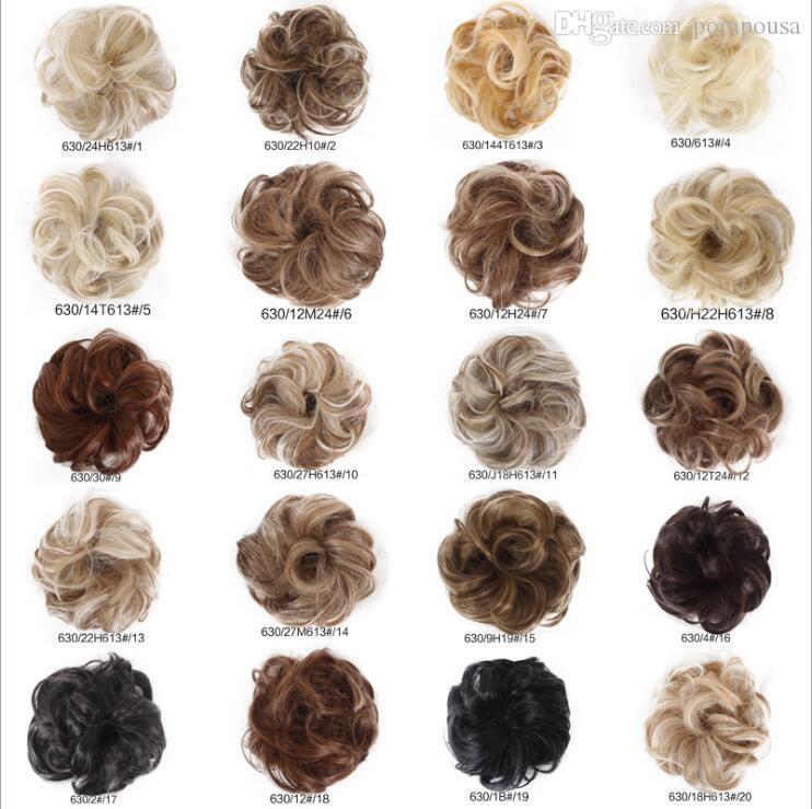 Wholesale New Arrive Synthetic Hair Bun 35g Elastic Curl Hair Scrunchie  Summer Hot Selling Women Fake Hair Bun WQ541G Low Chignon Hair Chignon From  Pompousa ... 7469eb803