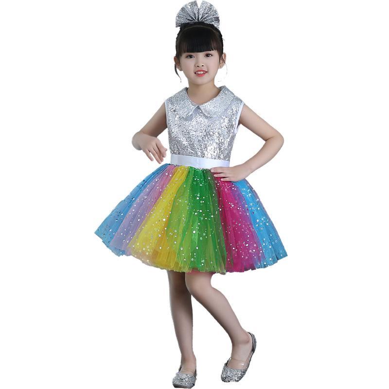 Compre Bailando Salsa Disfraces Moderno Childrens 2018 Lentejuelas B87B1Un