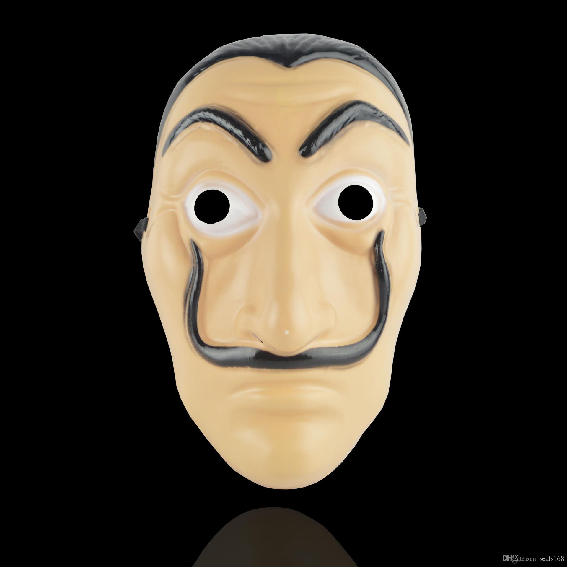 Cosplay Parti La Casa De Papel Yüz Salvador Dali Kostüm Film Gerçekçi Cadılar Bayramı XMAS HH7-929 Malzemeleri Maske Maske