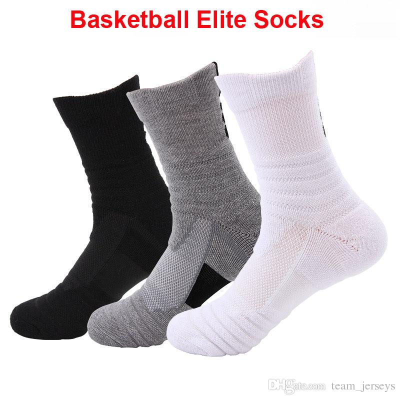 Outdoor Sports Elite Basketball Socks Men Cycling Running Yoga Gym Athletic Socks Compression Cotton Towel Bottom Men's Sock High Quality