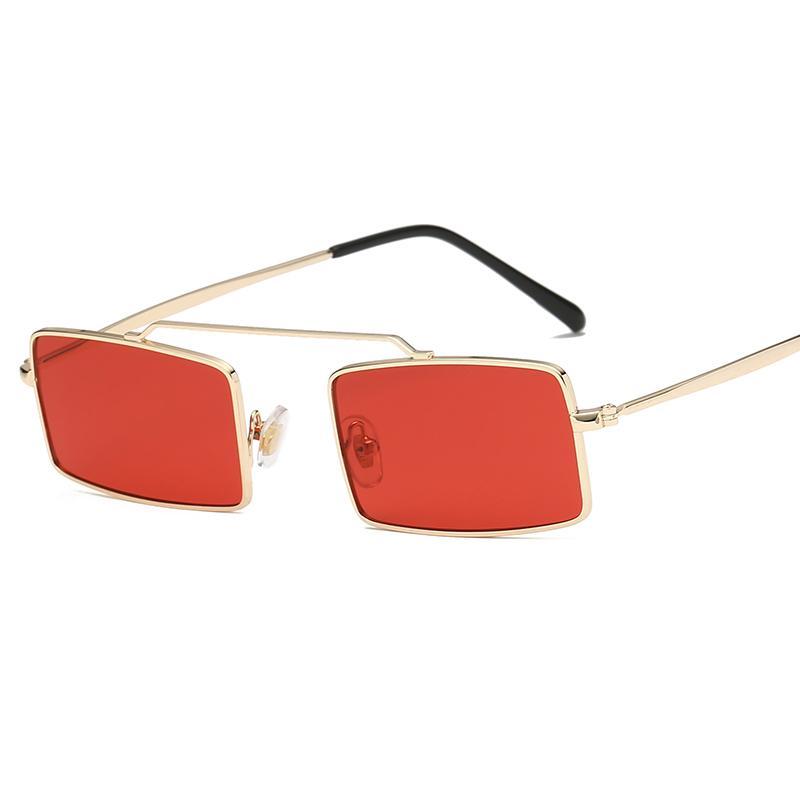 92110e3de Compre Quadrado Pequeno Designer De Marca Do Vintage Óculos De Sol  Steampunk Mulheres Óculos De Sol Armação De Metal Óculos Moda R Ultralight  De Haydena, ...