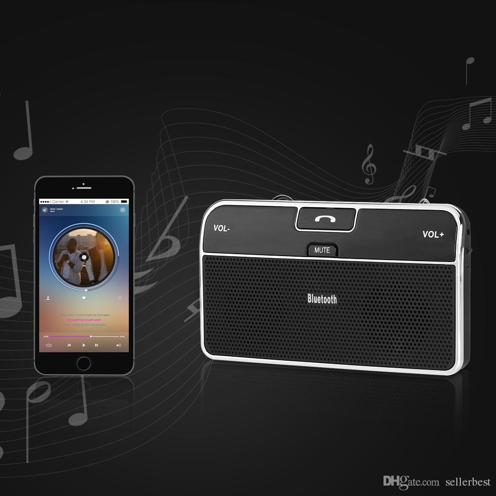 Vivavoce Bluetooth universale senza fili Vivavoce V4.0 Adattatore auto AUX Ricevitore vivavoce + Caricabatteria da auto telefoni cellulari
