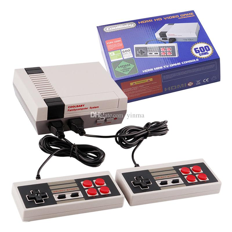fd032eb51a4 Compre Consola De Videojuegos Coolbaby HDMI HD Para NES Classic Family  Consola De Videojuegos Clásica Mini TV 600 Games Entertainment System A   24.32 Del ...