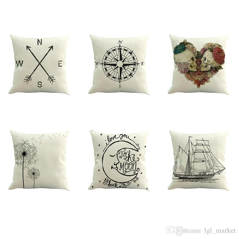 Home Decorative Throw Pillows Sea Sailing Cushion Cover Boat Anchor Classy Small Decorative Throw Pillows