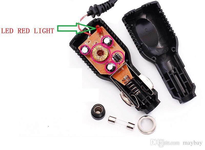 MINI USB 5V 1500mA Charger power supply Cable Cord 12V 24V 40V Trucks with LED RED LIGHT