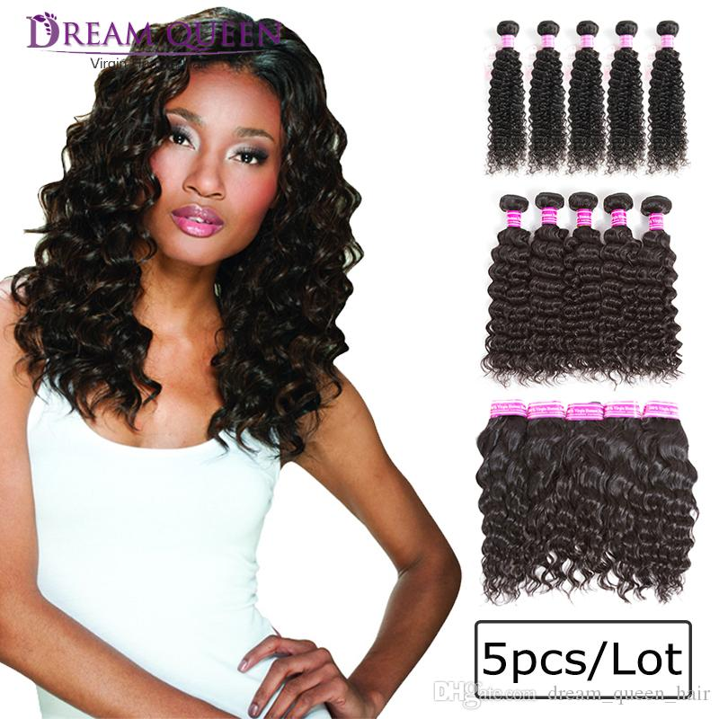 8a Top Peruvian Remy Human Hair Weaves 5 Bundles Kinky Curly Natural