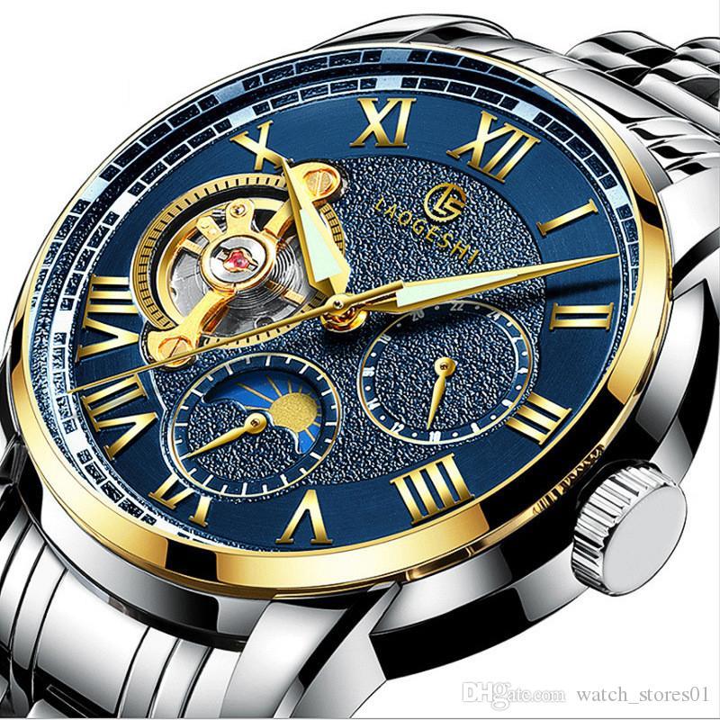 2b41e23be Business Man Luxury Watch Roman Automatic Mechanical Man Wristwatch ...