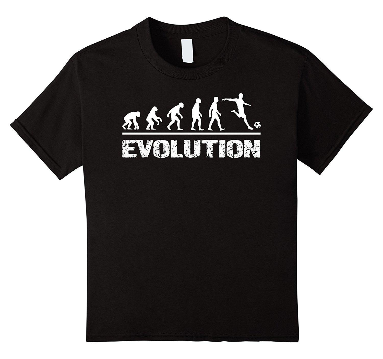 Evolution Soccer T Shirt Cool Funny Science Evolve Gift Tee Print ...