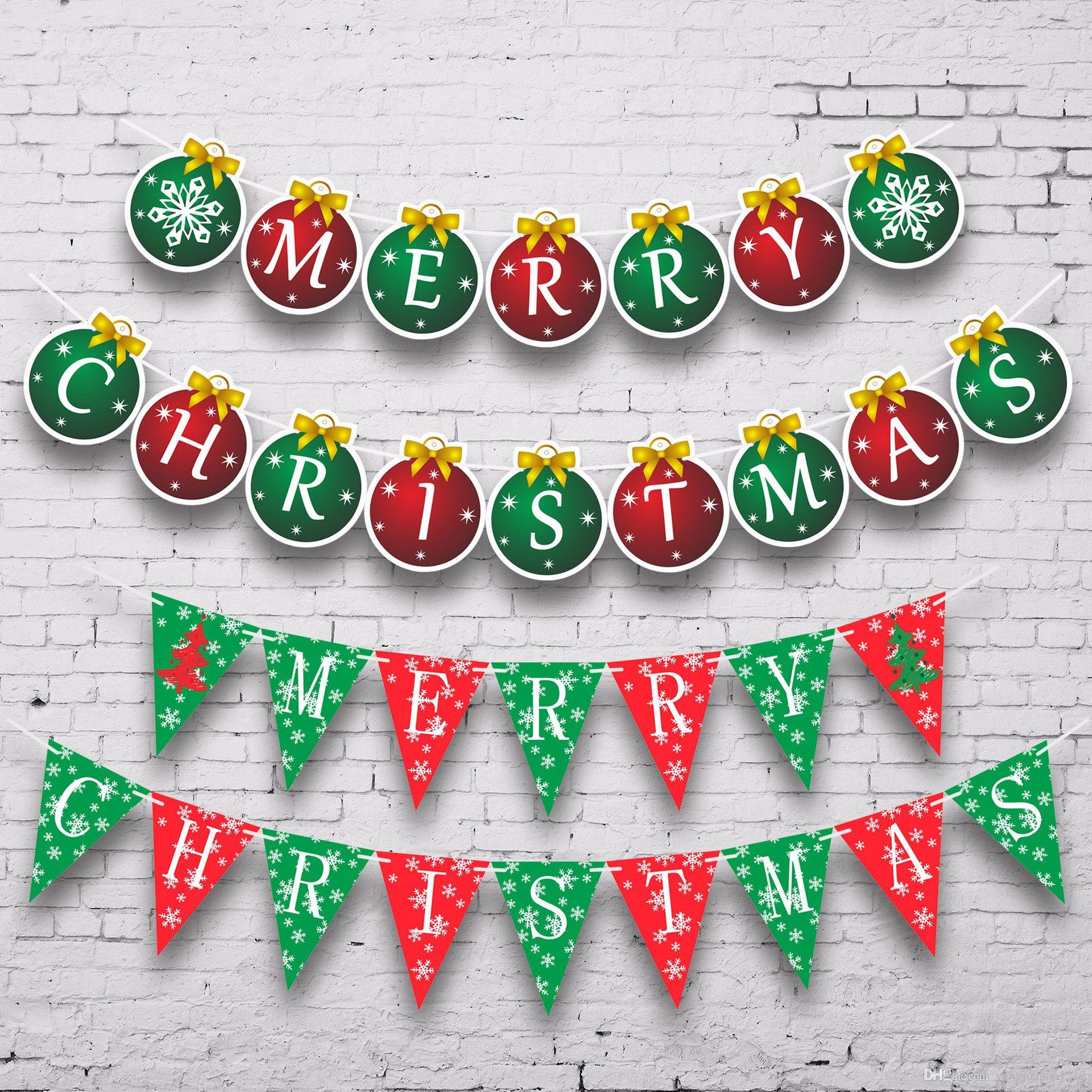 Großhandel Frohe Weihnachten Karton Buchstaben Banner Wand ...